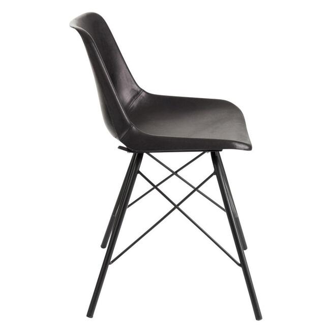 J-Line Eetkamerstoel 'Josette' kleur Zwart