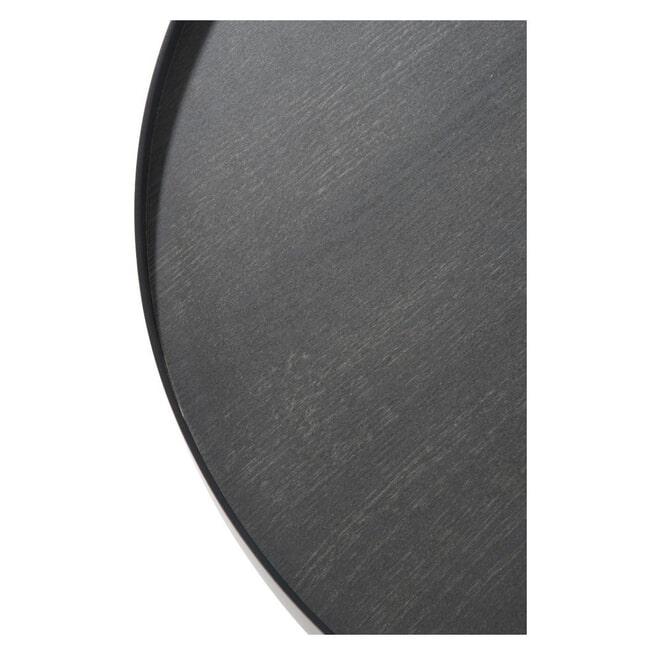 J-Line Ronde Bijzettafel 'Clemence' Medium, kleur Zwart, Ø60,5cm