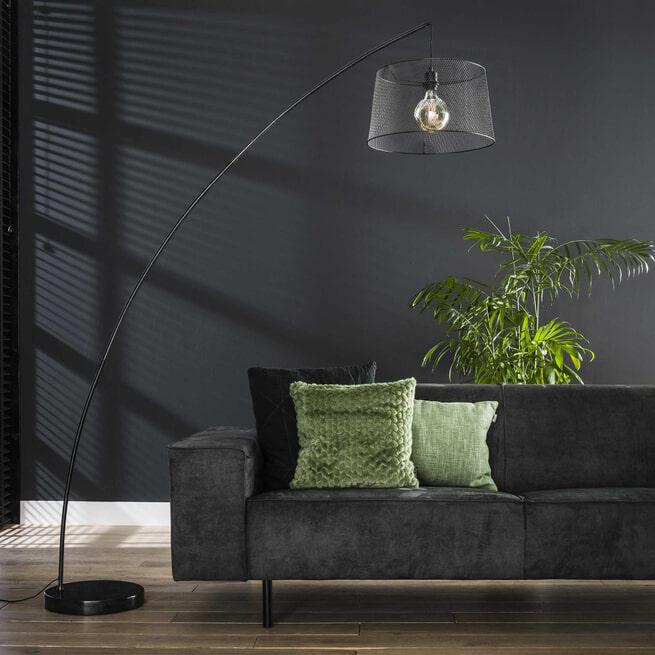 Vloerlamp 'Alexandra' Ø45cm, kleur Charcoal