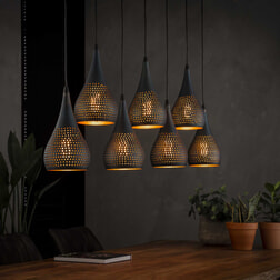 Hanglamp 'Daniel' 7-lamps, Ø15cm