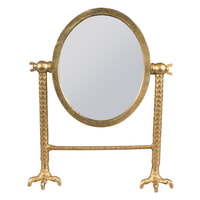 Dutchbone Staande Spiegel 'Falcon' kleur Brass