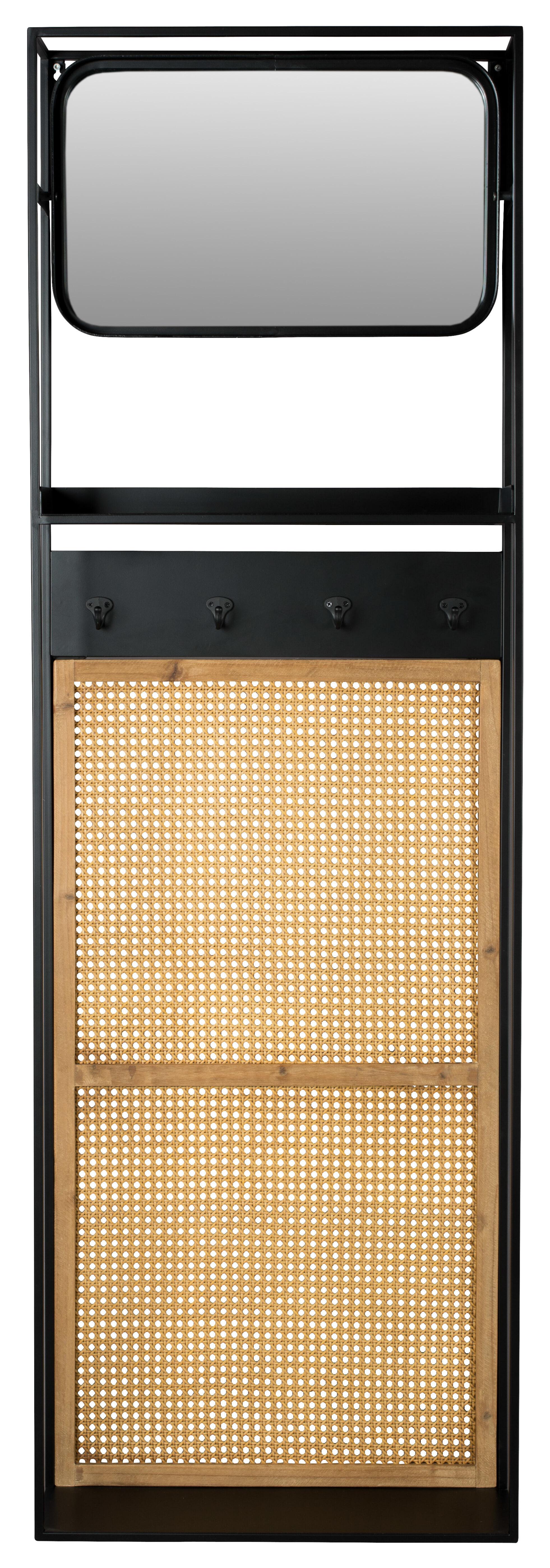 Dutchbone Langres M Spiegel B53xD15xH165 Cm Zwart Metaal online kopen