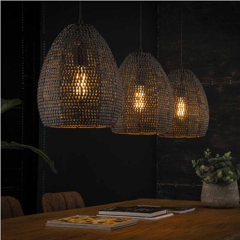 Hanglamp 'America' 3-lamps