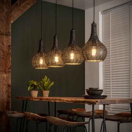 Hanglamp 'Armor' Kegel, 4-lamps