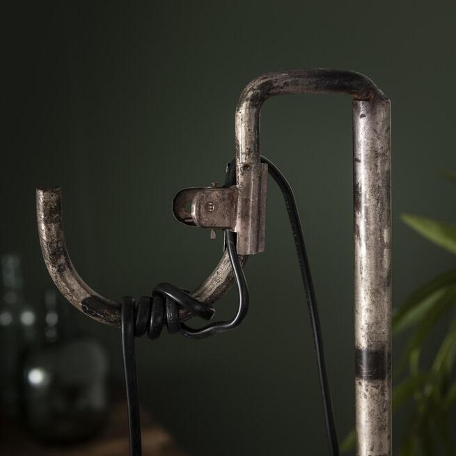 Vloerlamp 'Latoya' kleur Oud Zilver