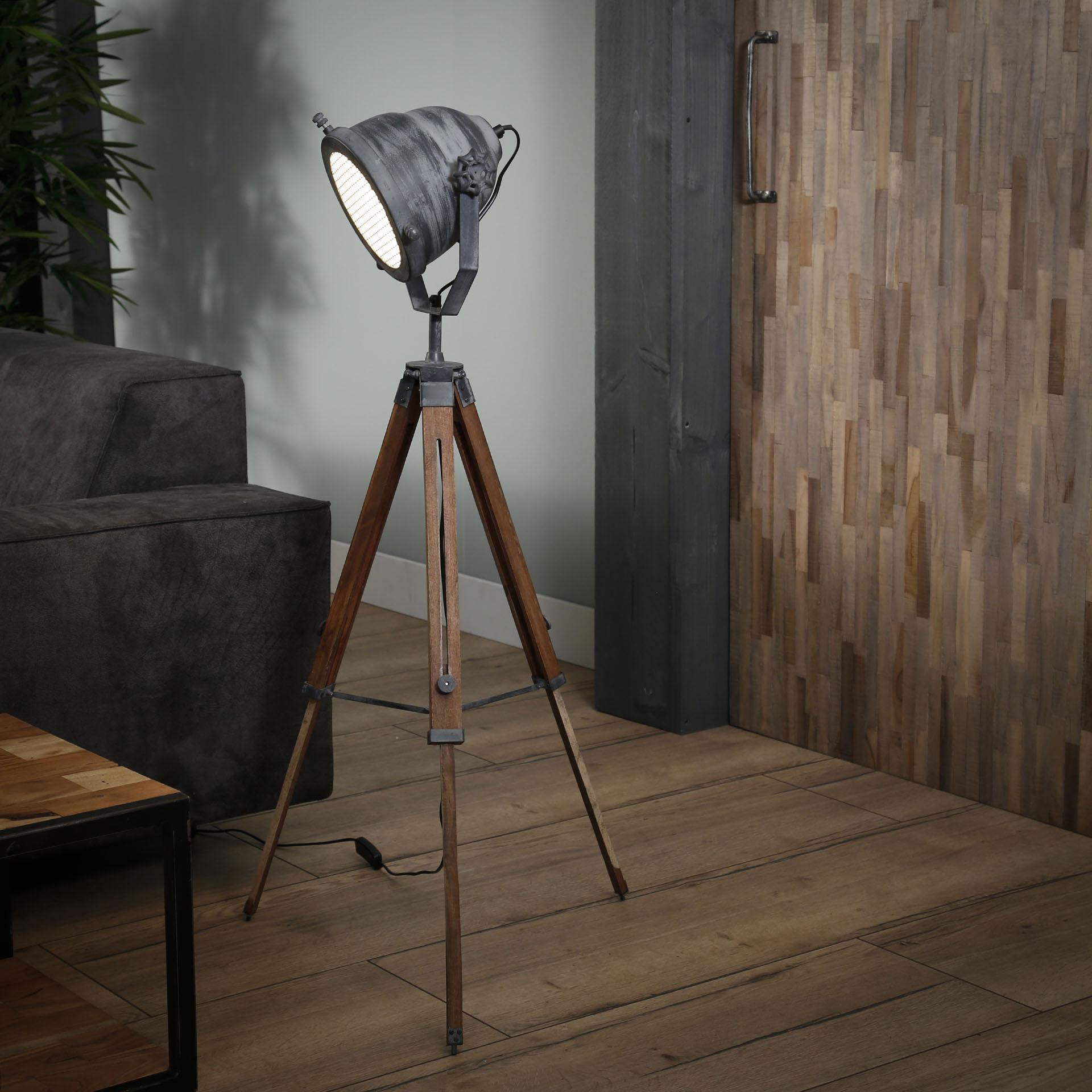 Industri�le Vloerlamp 'Jean' (hoogte 86 - 116cm)