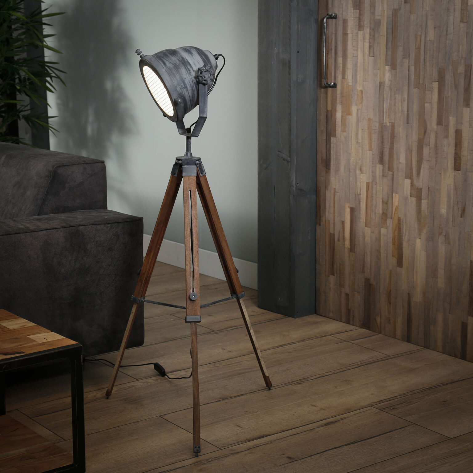 Industriele Kleine Staande Lamp.Industriele Vloerlamp Jean Hoogte 86 116cm
