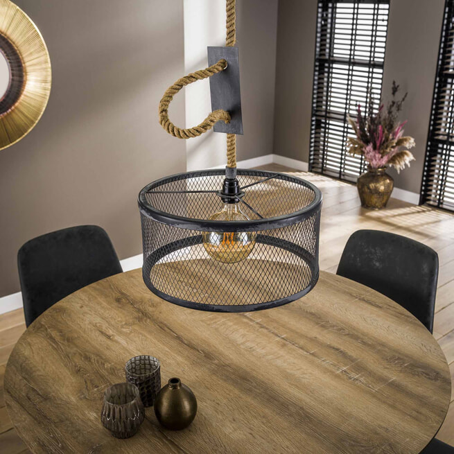 Ronde eettafel 'Nola' 120cm, 3D-eikenlook