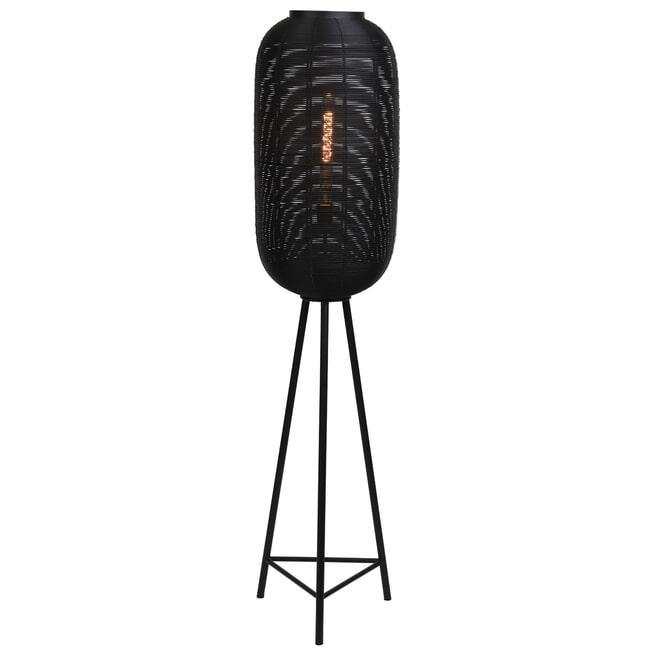 Light & Living Vloerlamp 'Tomek' 152cm, kleur Mat Zwart