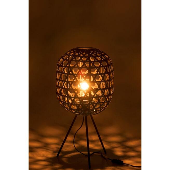 J-Line Tafellamp 'Herta' kleur Zwart, Ø29cm