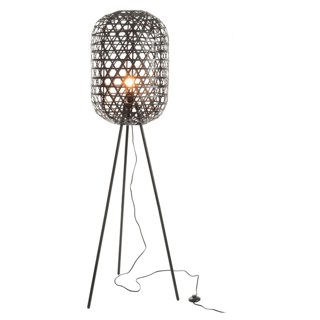 J-Line Vloerlamp 'Edilbert' kleur Zwart