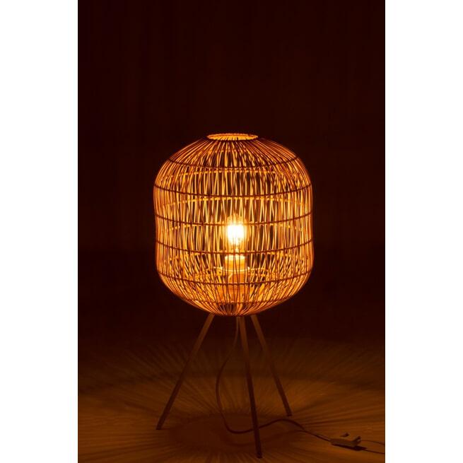 J-Line Tafellamp 'Josephus' kleur Naturel / Wit, Ø30cm