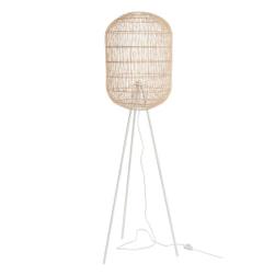 J-Line Vloerlamp 'Lucianus' kleur Naturel / Wit