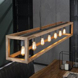 Hanglamp 'Carolyn' Mangohout, 7-lamps