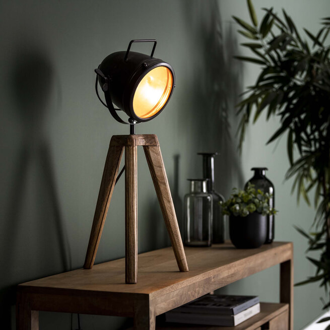Tafellamp 'Joyce' Mangohout, 60cm