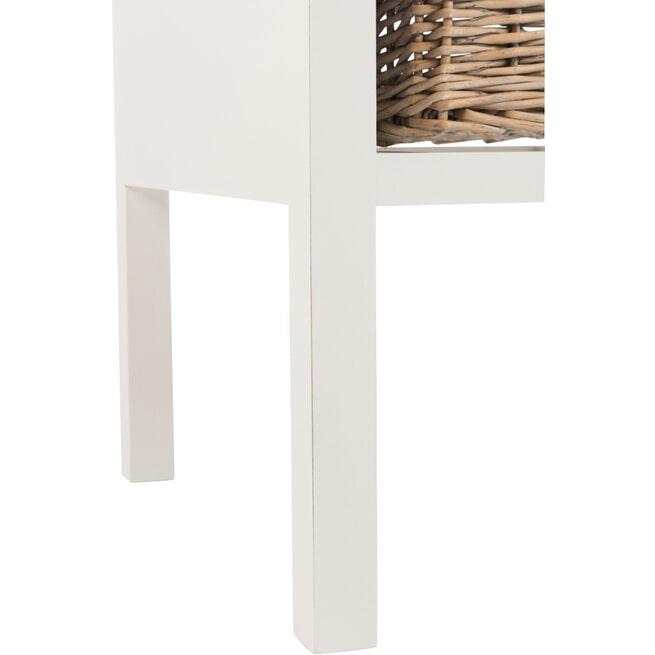 J-Line Nachtkastje 'Anselmus' kleur Wit, 50 x 50cm