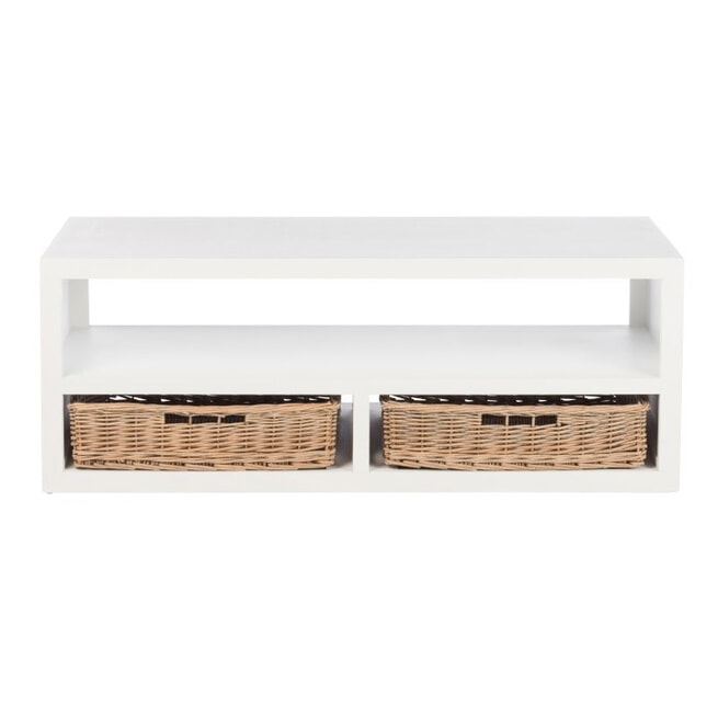 J-Line Salontafel 'Lambertus' kleur Wit