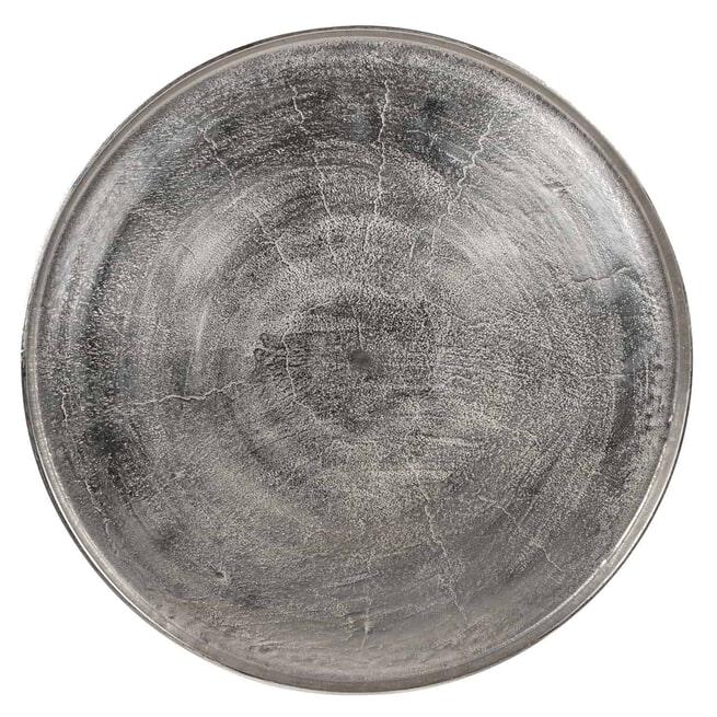 Richmond Salontafel 'Lyam' Metaal, kleur Zwart / Zilver, Ø 70cm