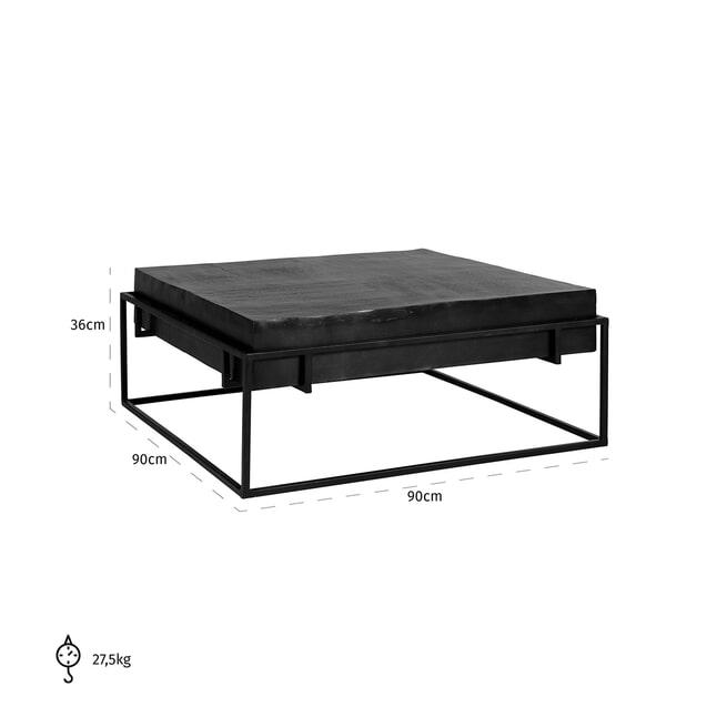 Richmond Salontafel 'Bolder' kleur Zwart, 90 x 90cm