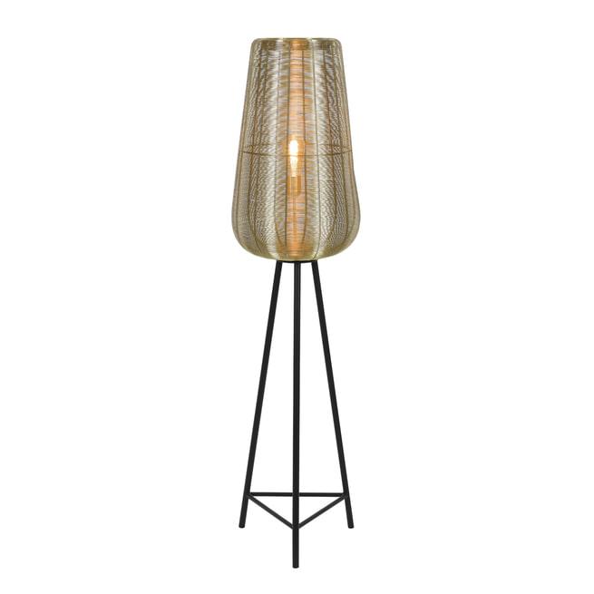 Light & Living Vloerlamp 'Adeta', goud+mat zwart, 147cm hoog