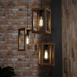 Hanglamp 'Thelma' 3-lamps