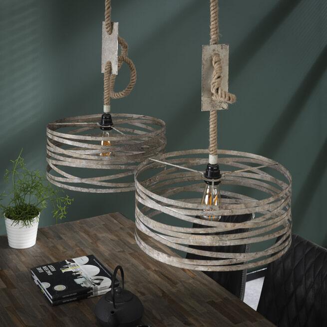 Dubbele Hanglamp 'Raúl' 2 x Ø40cm