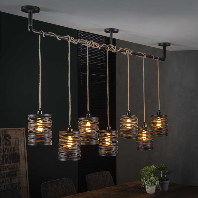 Hanglamp 'Cate' 7-lamps
