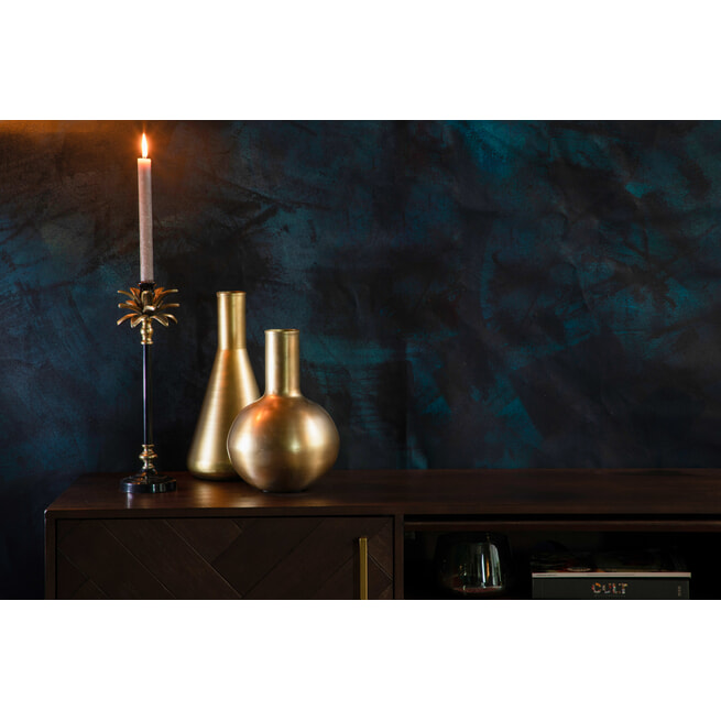 Dutchbone Kandelaar 'Cresta', 38x10,5cm, kleur Goud