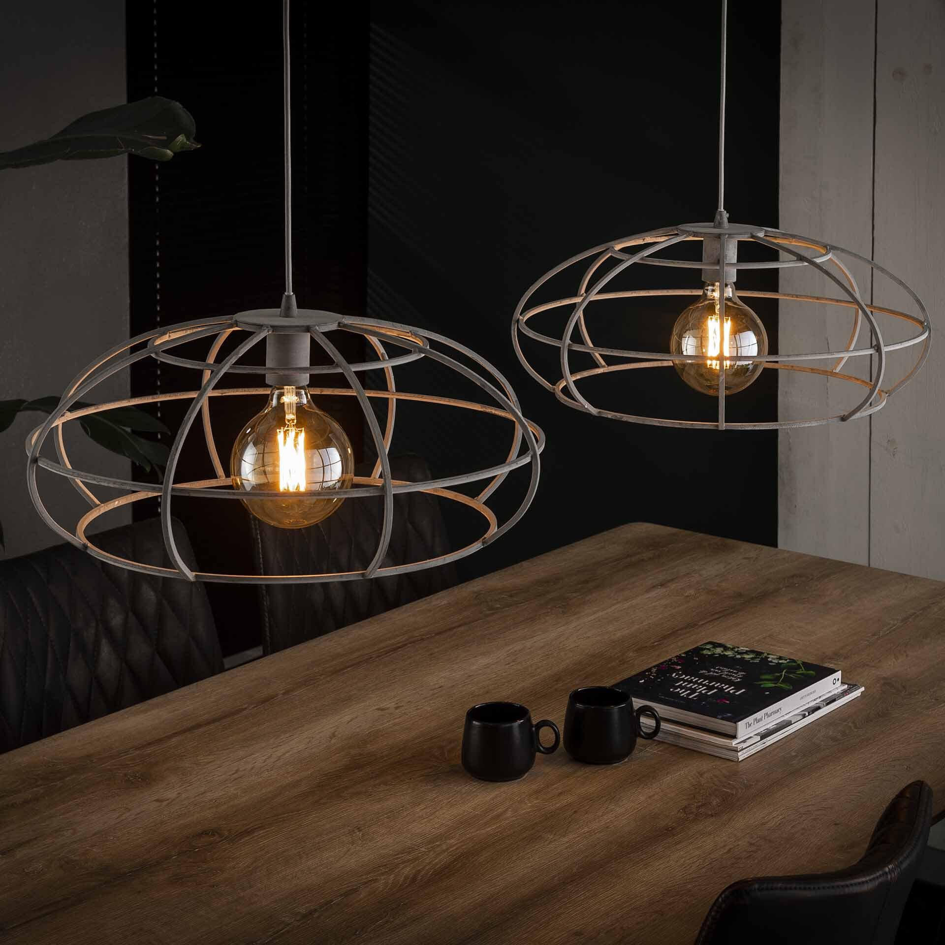 Dubbele Hanglamp 'Crispin' Ø50cm Verlichting | Hanglampen vergelijken doe je het voordeligst hier bij Meubelpartner