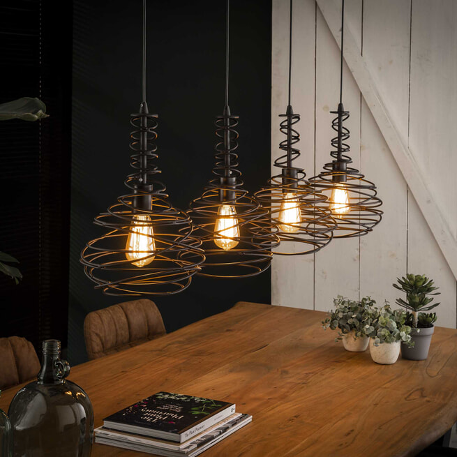Hanglamp 'Quinten' 4-lamps, Ø25cm