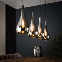 Hanglamp 'Cassandra' 4-lamps, kleur Chrome