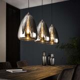 Hanglamp 'Cassandra' 3-lamps, kleur Chrome