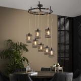 LifestyleFurn Hanglamp 'Elevate' 7-Lamps, kleur Metaal