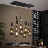 LifestyleFurn Hanglamp 'Elevate' 9-Lamps, kleur Metaal