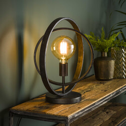 Tafellamp 'Tricia' kleur Charcoal