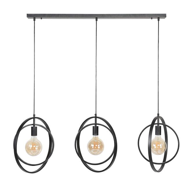 Hanglamp 'Tricia' 3-lamps, kleur Charcoal