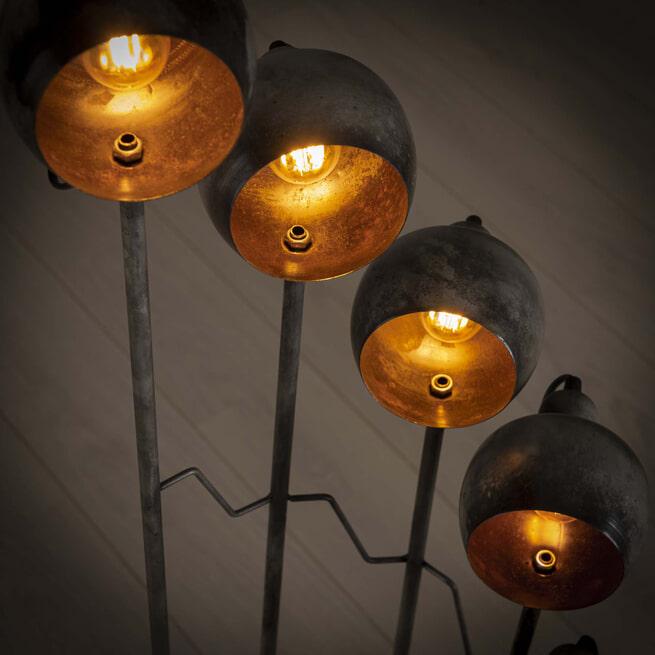 Vloerlamp 'Udo' 8-lamps