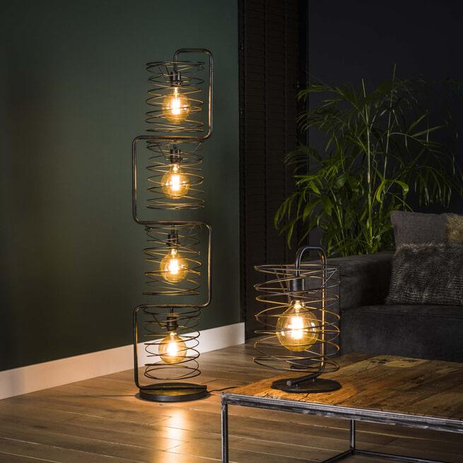 Tafellamp 'Gwendolyn' Ø25cm, kleur Charcoal