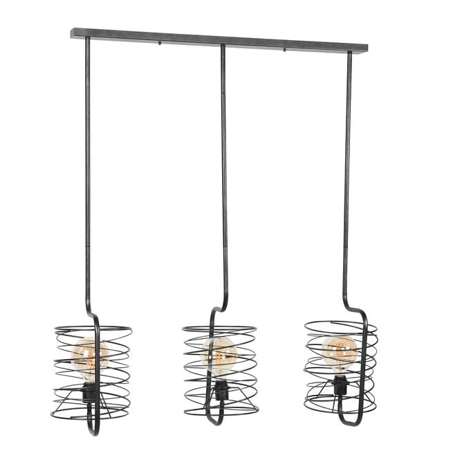 Hanglamp 'Gwendolyn' 3-lamps, Ø25cm, kleur Charcoal