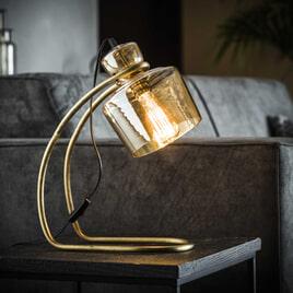 Tafellamp 'Laurens' met amber glas