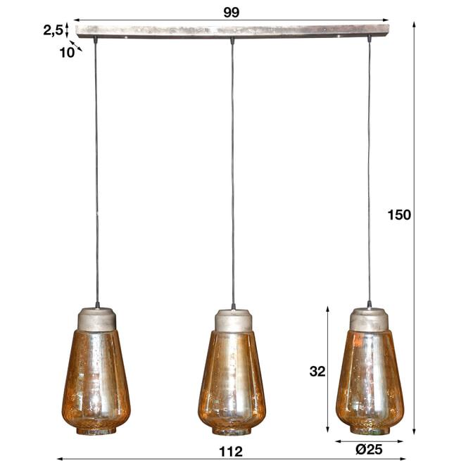 Hanglamp 'Natan' 3-lamps