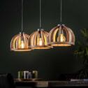 Hanglamp 'Yuna' Mangohout, 3-lamps