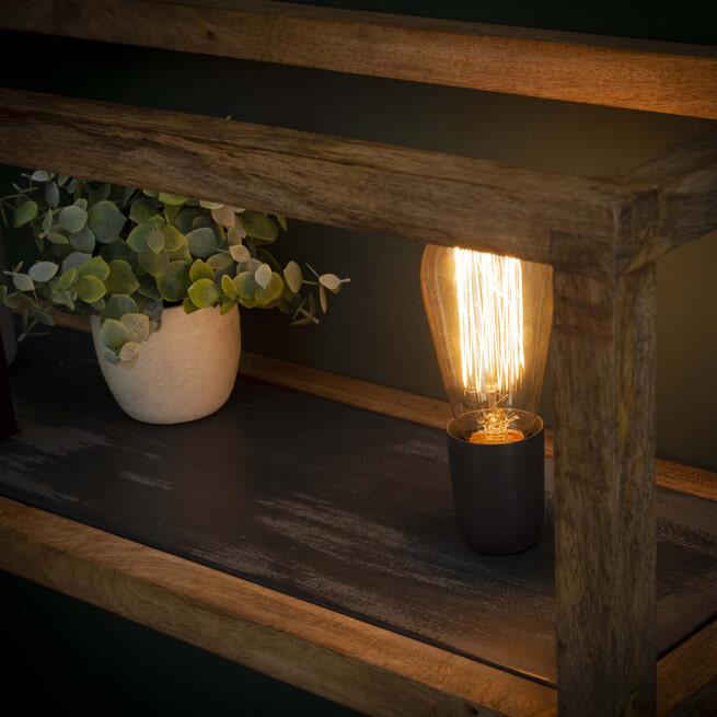 Wandlamp 'Wietse' 1-lamps, met wandrek