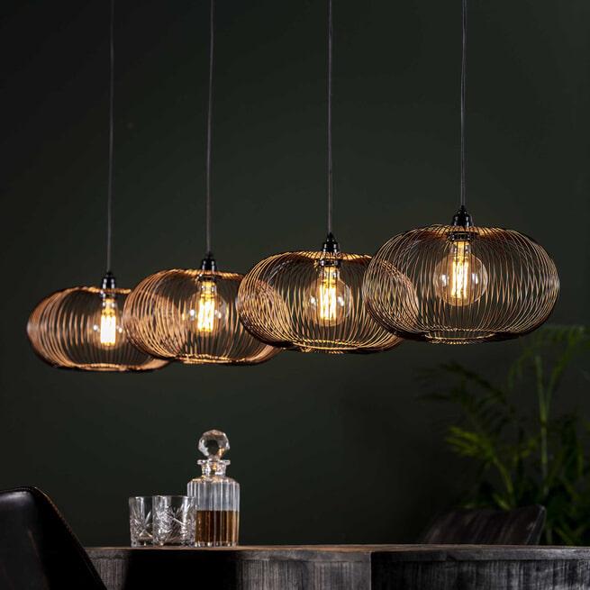Hanglamp 'Mallory' Ø35cm, 4-lamps