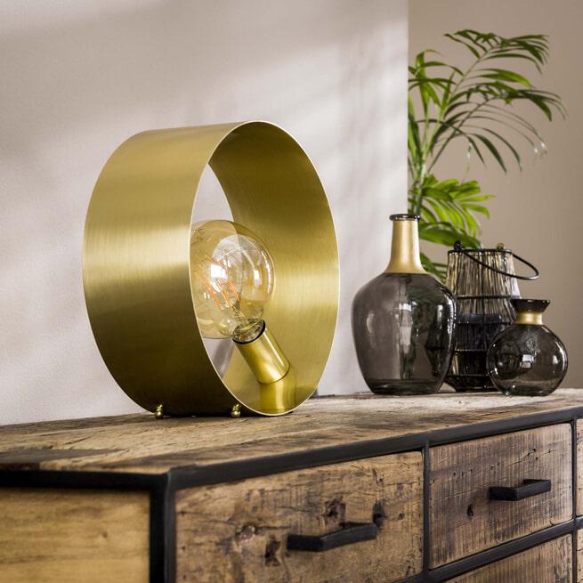 Tafellamp 'Toledo' kleur Goud