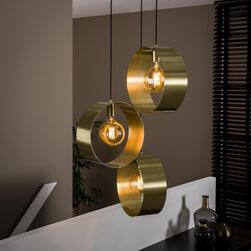 Hanglamp 'Toledo' kleur Goud, 3-lamps