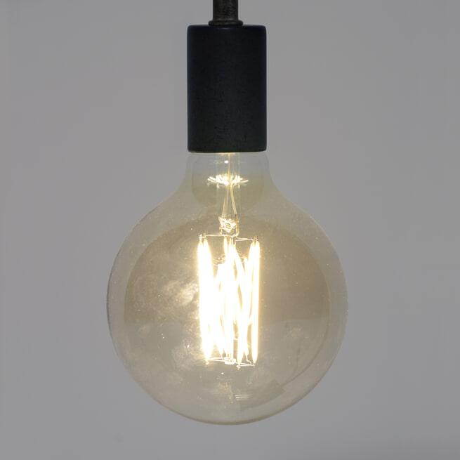 Kooldraadlamp 'Bol XL' Ø12,5cm E27 LED 6W goldline, dimbaar