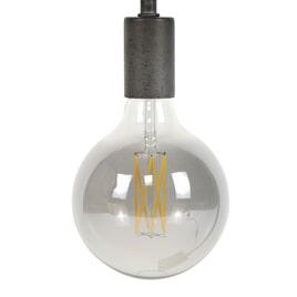 Kooldraadlamp 'Bol XL' E27 LED 6W Ø12cm, kleur Smoke Grey, dimbaar