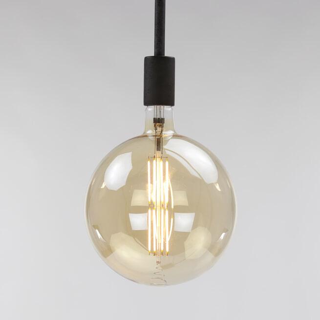 Kooldraadlamp 'Bol XXL' Ø20cm, LED E27 / 8W, Goldline, dimbaar
