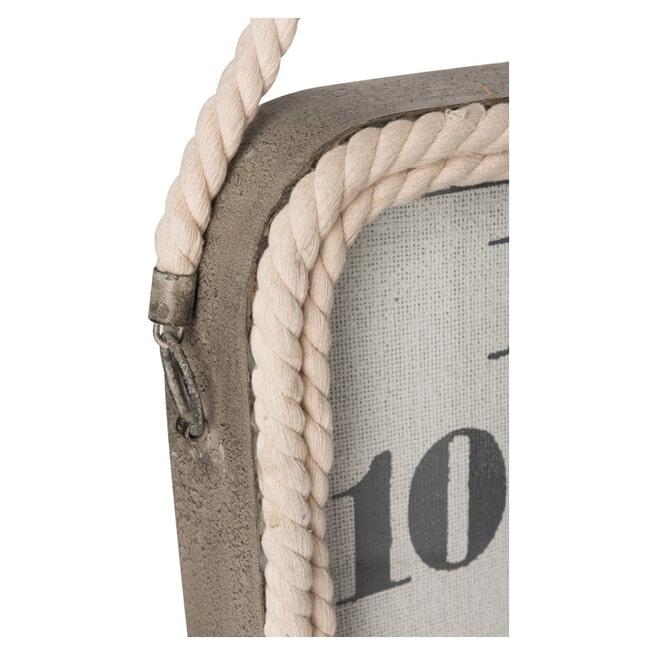 J-Line Klok 'Jooris' Large, kleur Grijs, 60 x 60 cm